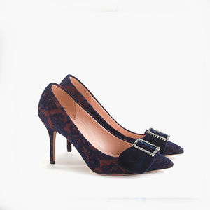 NEW J. Crew Elsie Pointed Toe Brocade Pump Size 6